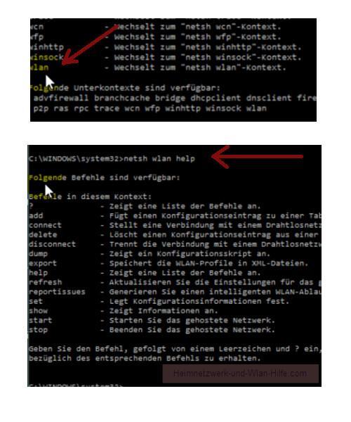 Windows 10 Tutorial - Wlan-Einstellungen und Wlan-Passwort anzeigen lassen – Die Wlan-Optionen des Netzwerk Systembefehls netsh