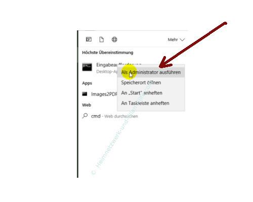 Windows 10 Tutorial - Wlan-Einstellungen und Wlan-Passwort anzeigen lassen – Die Eingabeaufforderung als Administrator ausführen
