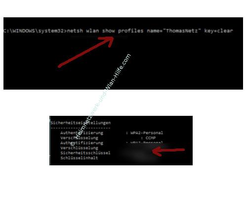 Windows 10 Tutorial - Wlan-Einstellungen und Wlan-Passwort anzeigen lassen – Netsh Befehl zum Anzeigen des Wlan-Passwortes im Klartext