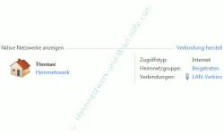 Heimnetzwerk Anleitungen: Die Windows-Heimnetzgruppe im eigenen Computernetzwerk nutzen - Windows 7 - Aktiviertes Netzwerk anzeigen