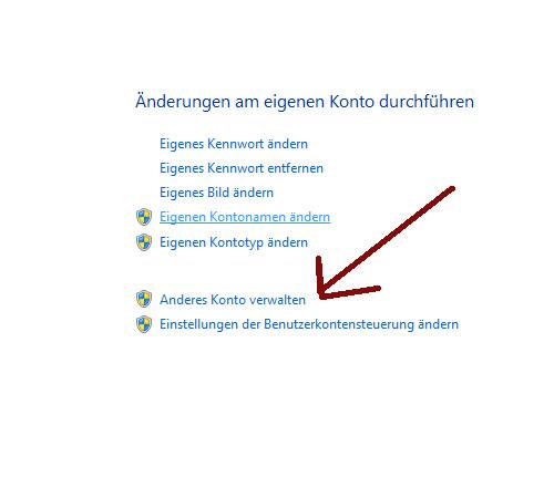 Heimnetzwerk Tutorial: Sichere Windows-Freigaben verwenden - Windows 7 Benutzerkontenverwaltung - Anderes Konto verwalten
