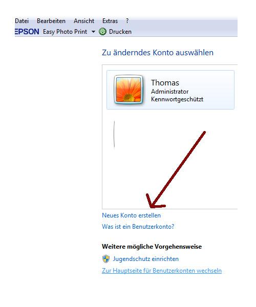 Heimnetzwerk Tutorial: Sichere Windows-Freigaben verwenden - Windows 7 Benutzerkontenverwaltung - Neues Konto erstellen