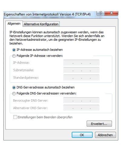 Windows 7 Heimnetzwerk Tutorial:  DHCP-Konfiguration der Netzwerkkarte