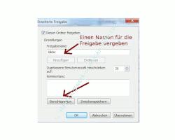 Heimnetzwerk Anleitungen: Die Windows-Heimnetzgruppe im eigenen Computernetzwerk nutzen - Einen Namen für die Windows 7 Freigabe vergeben