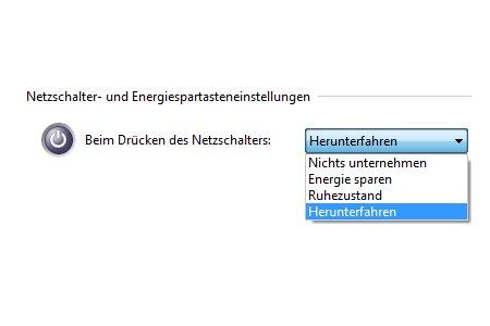 Windows Tutorials und Anleitungen: Computer per Netzschalter herunterfahren - Windows 7 Energieoptionen Netzschalter