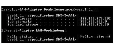 Netzwerk Anleitungen und Tutorials: Computer im Netzwerk finden - IP-Adresse auf der Kommandozeile anezeigen lassen