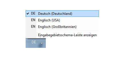 Windows Anleitungen: Die Windows 7 Sprachenleiste wieder aktivieren - Windows 7 Systemsteuerung - Aktivierte Sprachenleiste