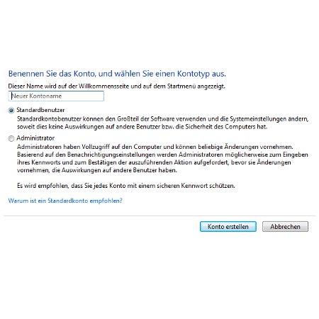 Windows Tutorials: Benutzerkonto mit Systembefehl net user anlegen - Windows 7 Neues Benutzerkonto erstellen