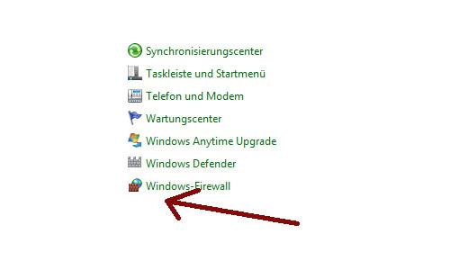 Heimnetzwerk Tutorials: Wichtige Sicherheitskonfigurationen in deinem Computer-Heimnetzwerk - Windows 7 Systemsteuerung Menüpunkt Firewall finden