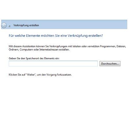 Windows Tutorial: Abgestürzte Windows Programme mit einem Klick beenden - Windows 7 - Verknüpfungsassistent startet