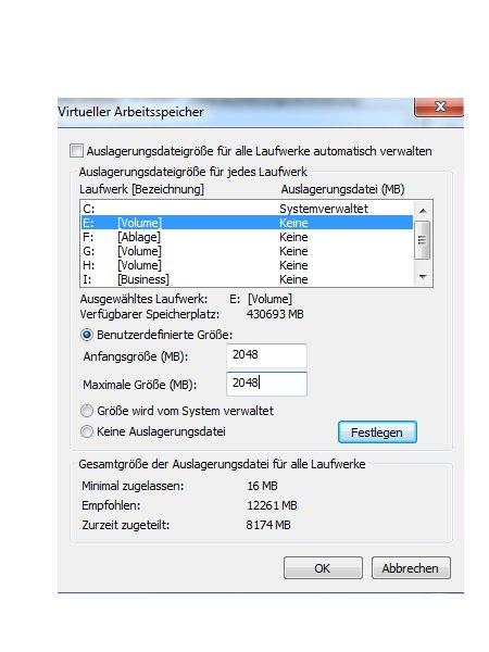 Die Windows 7 Auslagerungsdatei anpassen - Die Größe des virtuellen Speichers festlegen