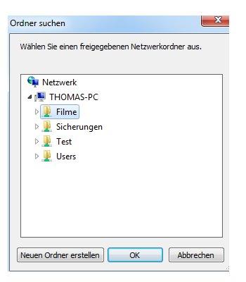 Netzwerk Tutorial: Windows 7 Netzlaufwerke dauerhaft zuordnen - Den freigegebenen Netzwerkordner auswählen