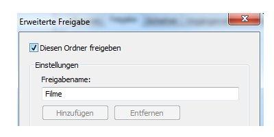 Heimnetzwerk Tutorials: Windows 7 Dateien und Drucker freigeben - Diesen Ordner freigeben