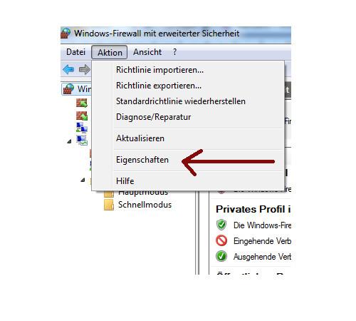 Heimnetzwerk Tutorials: Wichtige Sicherheitskonfigurationen in deinem Computer-Heimnetzwerk - Windows 7 Firewall Netzwerkprofileinstellungen aufrufen