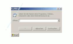 Anleitung: Windows Benutzerkonto einrichten - Fenster Ausführen mit Eingabefeld