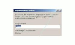 Windows Gerätemanager - Computernamen ändern -  Neuen Computernamen eingeben