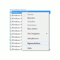 Windows 7 Dienste aktivieren oder deaktivieren - Eigenschaften eines Windows Dienstes