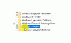 Windows 10 Tutorial - Mit der virtuellen Umgebung Sandbox ohne Gefahr Programme testen! - Windows Features: Die Option Windows-Sandbox aktivieren