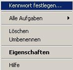 Netzwerk-Anleitung: Windows Passwort über die zentrale Gruppenverwaltung ändern! Computerverwaltung - Kontextmenü Benutzer - Kennwort festlegen