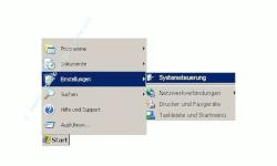 Schritt für Schritt Anleitung: Windows Benutzerpasswort Passwort ändern - Start, Einstellungen, Systemsteuerung