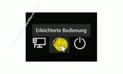 Windows 10 Tutorial - Windows Benutzerkonto gesperrt Passwort vergessen Kennwort hacken und Admin-Rechte erhalten! - Anmeldebildschirm Button für den Aufruf Erleichterte Bedienung