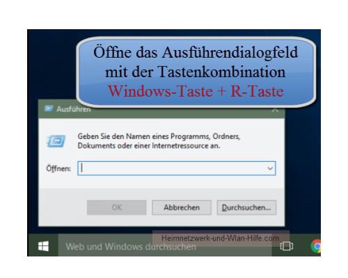 ausführen windows 10 öffnen
