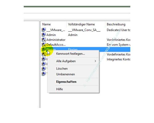 Windows 10 Tutorial: Alle Benutzer und Benutzergruppen anzeigen – Befehle für die Benutzerverwaltung über das Kontextmenü des Benutzers