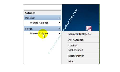 Windows 10 Tutorial: Alle Benutzer und Benutzergruppen anzeigen – Befehle für die Benutzerverwaltung über das Menü Aktionen bei markiertem Benutzer