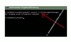 Windows 10 Tutorial - Das Bootmenü mit dem Bootmanager bcdedit konfigurieren – Die aktuelle Bootmenükonfiguration sichern