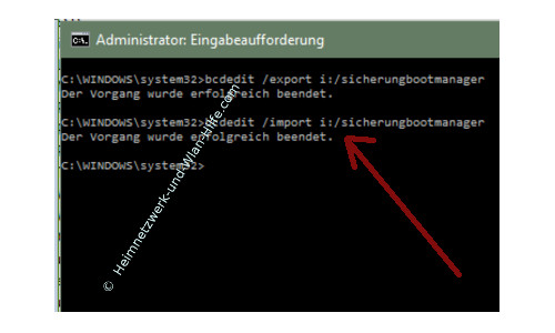 Windows 10 Tutorial - Das Bootmenü mit dem Bootmanager bcdedit konfigurieren – Die aktuelle Bootmenükonfiguration zurücksichern