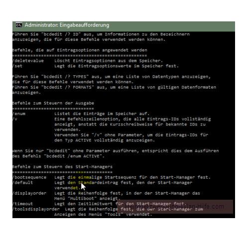 Windows 10 Tutorial - Das Bootmenü mit dem Bootmanager bcdedit konfigurieren – Die Optionen des Befehls bcdedit