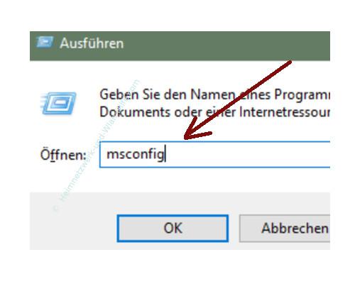 Windows 10 Tutorial - Das Bootmenü mit dem Bootmanager bcdedit konfigurieren – msconfig über den Ausführen-Dialog aufrufen