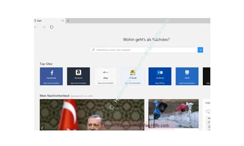 Windows 10 - Wichtige erste Anlaufstellen – Der neue Browser Edge
