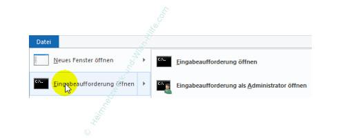Die neuen Funktionen des neuen Windows 10 Explorers – Eingabeaufforderung öffnen
