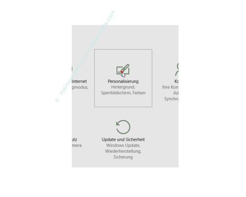 Windows 10 Startmenü-Bereich Meistverwendete Programme konfigurieren – Das Menü Personalisierung aufrufen