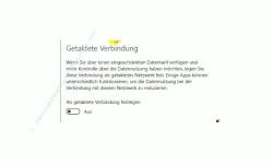 Windows 10 - Die neuen Netzwerkkonfigurationsmenüs – Wlan-Option: Getaktete Verbindung