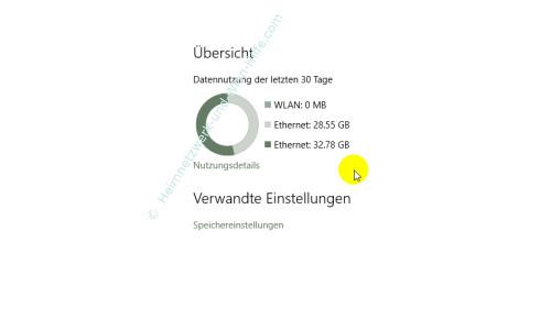 Windows 10 – Netzwerkverkehr und Datenvolumenverbrauch von Apps herausfinden – Allgemeine Übersicht über die Datennutzung