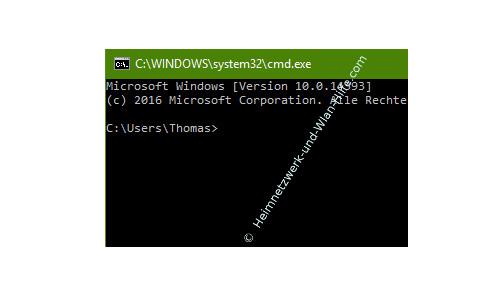 Die Windows 10 Standard-Kommandozeile durch die Power Shell ersetzen – Das Standard cmd Kommandozeilenfenster