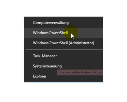Die Windows 10 Standard-Kommandozeile durch die Power Shell ersetzen – Der Menübefehl Windows PowerShell im Startmenü