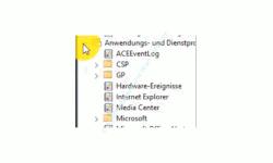 Windows 10 Ereignisanzeige – Bereich Anwendungs- und Dienstprogramme