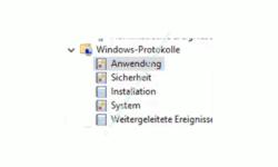 Windows 10 Ereignisanzeige – Das Protokoll Anwendung