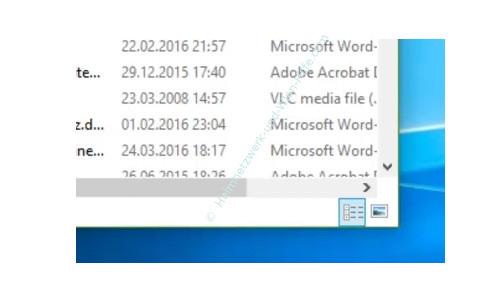 Windows 10 - Wichtige erste Anlaufstellen – Die Schnellumschaltung zwischen Detail- und Miniaturansicht im Windows Explorer-Fenster