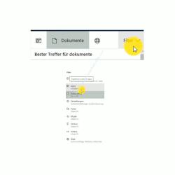 Windows 10 Suche Tutorial – Vordefinierte Filter für die Dokumentensuche verwenden