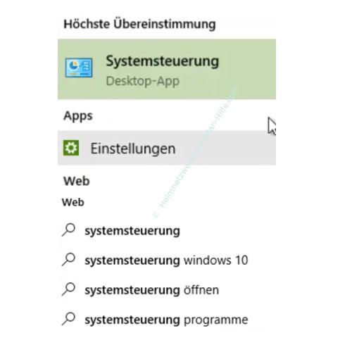 Windows 10 - Wichtige erste Anlaufstellen – Suchergebnisse über das Suchfeld Cortana