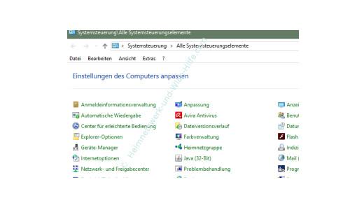 Windows 10 Tutorial - Systemfunktionen über Systemkennungen im Startmenü einbinden – Die Systemsteuerungselemente der Systemsteuerung
