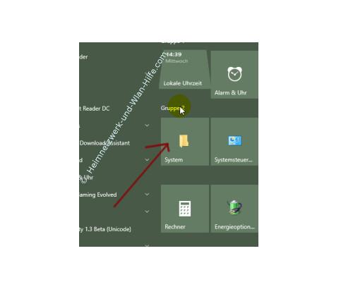 Windows 10 Tutorial - Systemfunktionen über Systemkennungen im Startmenü einbinden – Einen eigenen Ordner für den Zugriff auf Systemfunktionen als Kachel einbinden