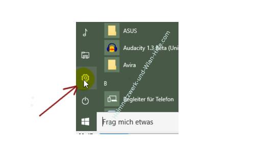 Windows 10 Tutorial - Systemfunktionen über Systemkennungen im Startmenü einbinden – Das Menü Einstellungen über das Startmenü aufrufen