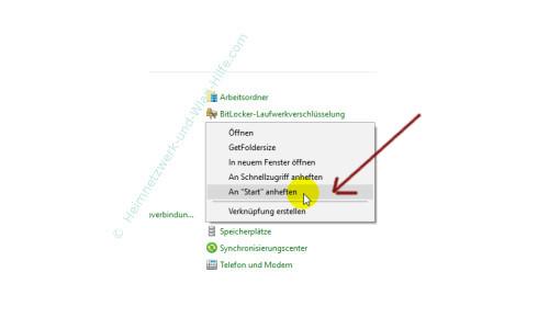 Windows 10 Tutorial - Systemfunktionen über Systemkennungen im Startmenü einbinden –Kontextmenübefehl An Start anheften
