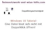 Windows 10 Tutorial - Eine Datei öffnet sich nicht mit Doppelklick!