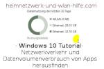Windows 10 – Netzwerkverkehr und Datenvolumenverbrauch von Apps herausfinden